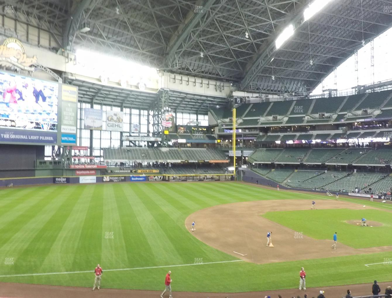 Concert at Miller Park Section 227 View