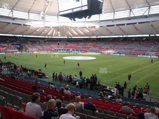 BC Place Stadium Section 209 view