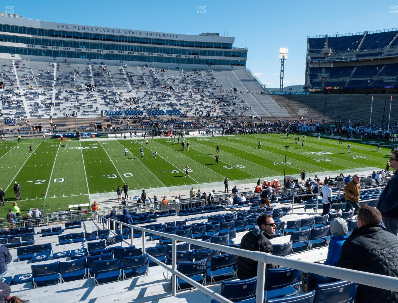 Penn State Nittany Lions Football at Beaver Stadium Section West G View