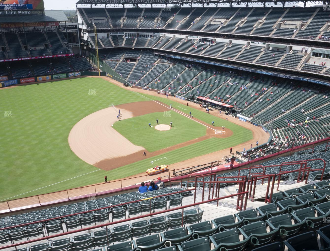 Texas Rangers at Globe Life Park Section 316 View