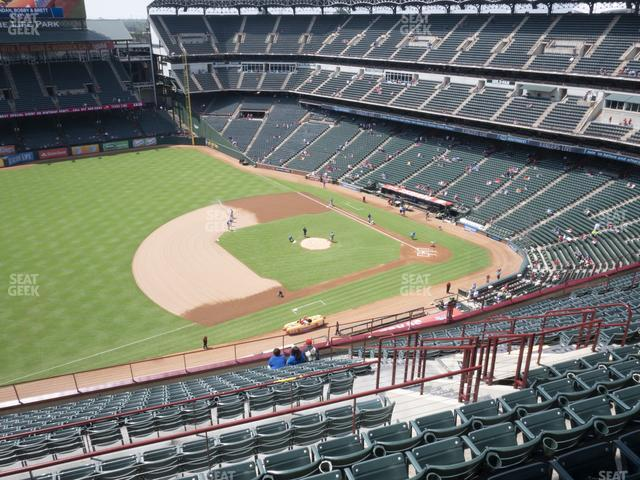 Globe Life Park Section 316 view