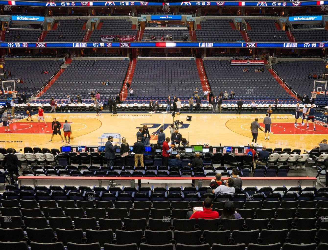 Washington Wizards at Capital One Arena Section 100 View