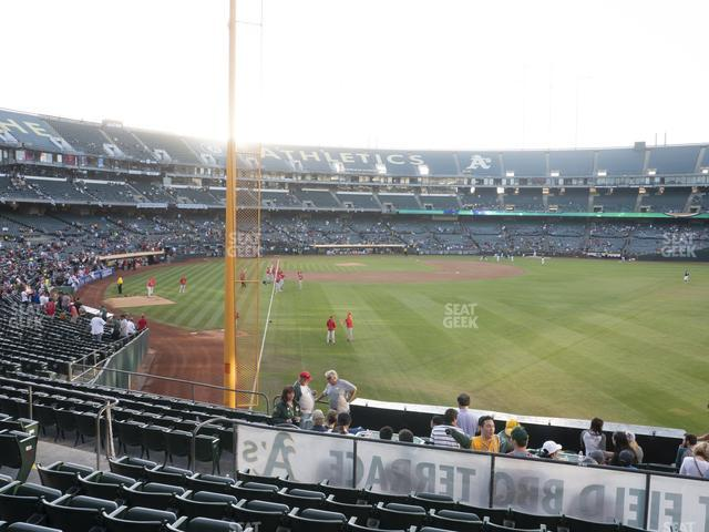 Oakland-Alameda County Coliseum Section 102 view