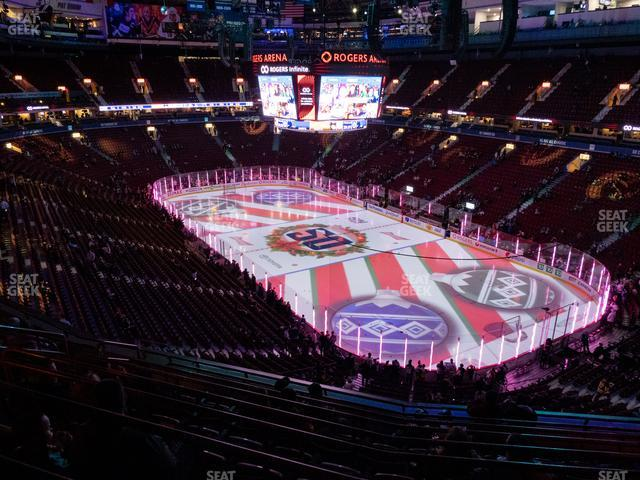 Rogers Arena Section 304 view