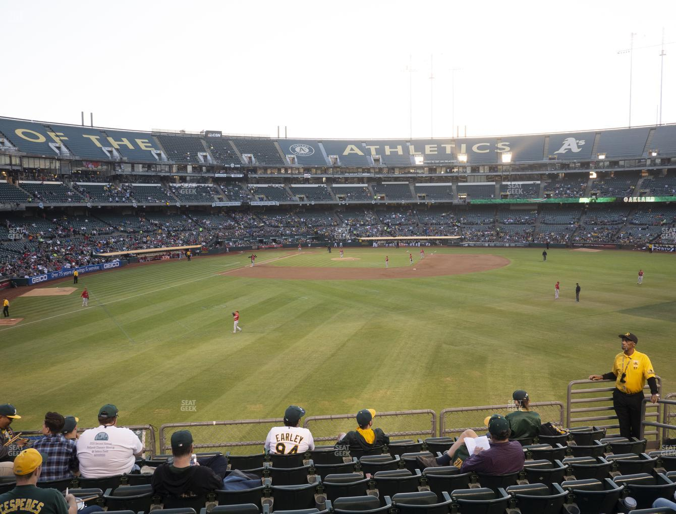 Oakland Athletics at Oakland-Alameda County Coliseum Section 148 View