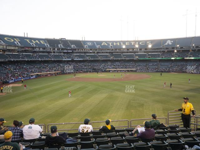 Oakland-Alameda County Coliseum Section 148 view