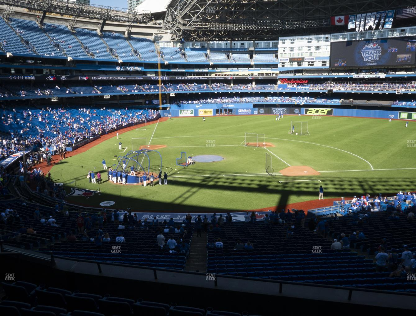 Toronto Blue Jays at Rogers Centre Section 220 R View