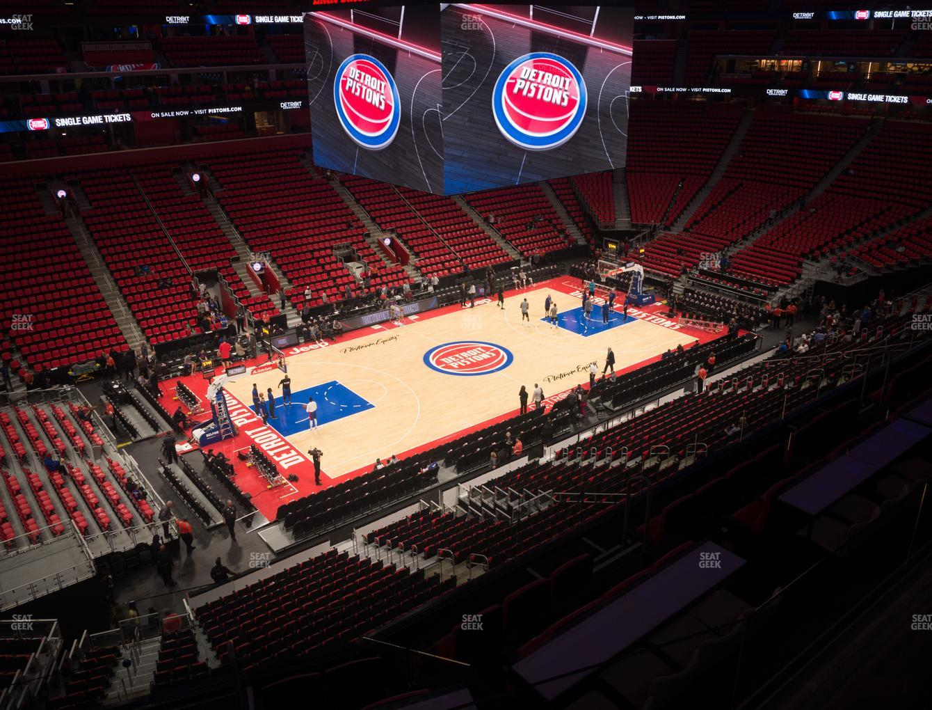 Detroit Pistons at Little Caesars Arena Mezzanine 14 H View