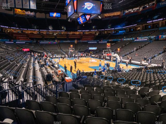 Chesapeake Energy Arena Section 112 view