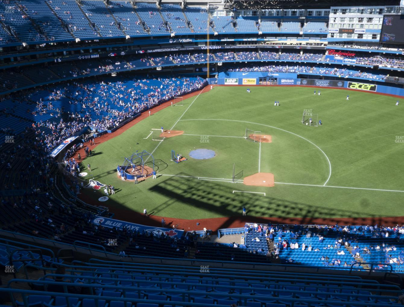 Toronto Blue Jays at Rogers Centre Section 518 R View