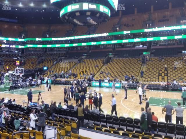 TD Garden Section Loge 11 view