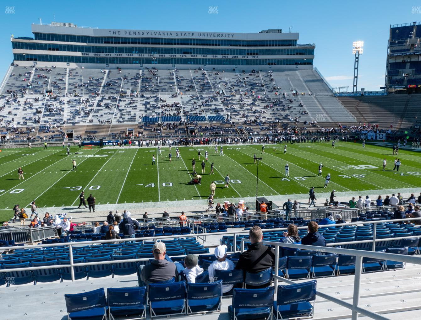 Penn State Nittany Lions Football at Beaver Stadium Section West F View