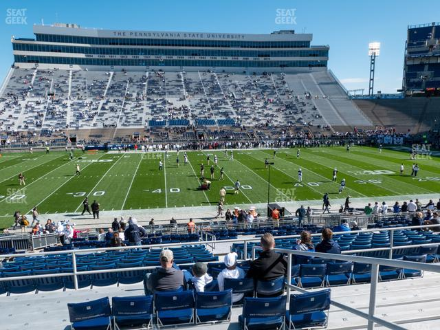 Beaver Stadium Section West F view