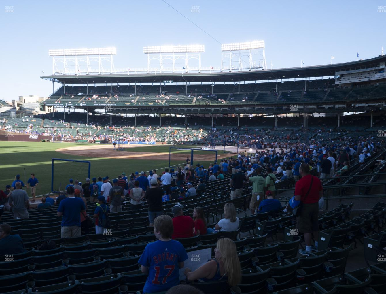 Chicago Cubs at Wrigley Field Section 104 View