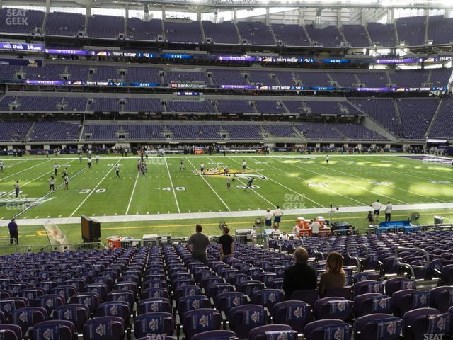 U.S. Bank Stadium Section V 4 view