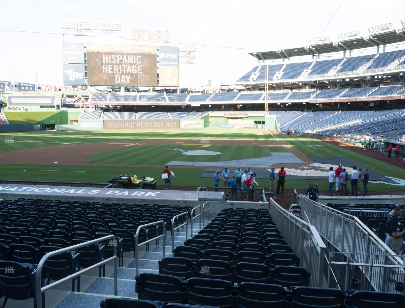 Washington Nationals at Nationals Park Section 118 View