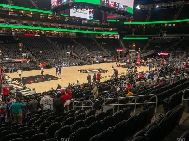 State Farm Arena Section 121 view