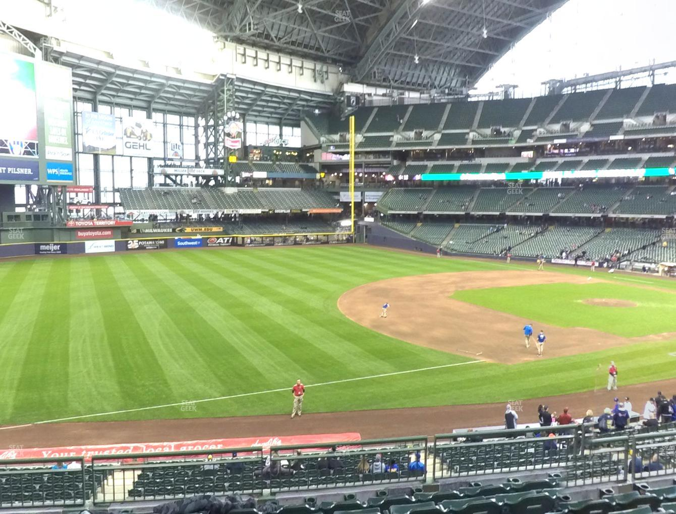 Milwaukee Brewers at American Family Field Section 228 View