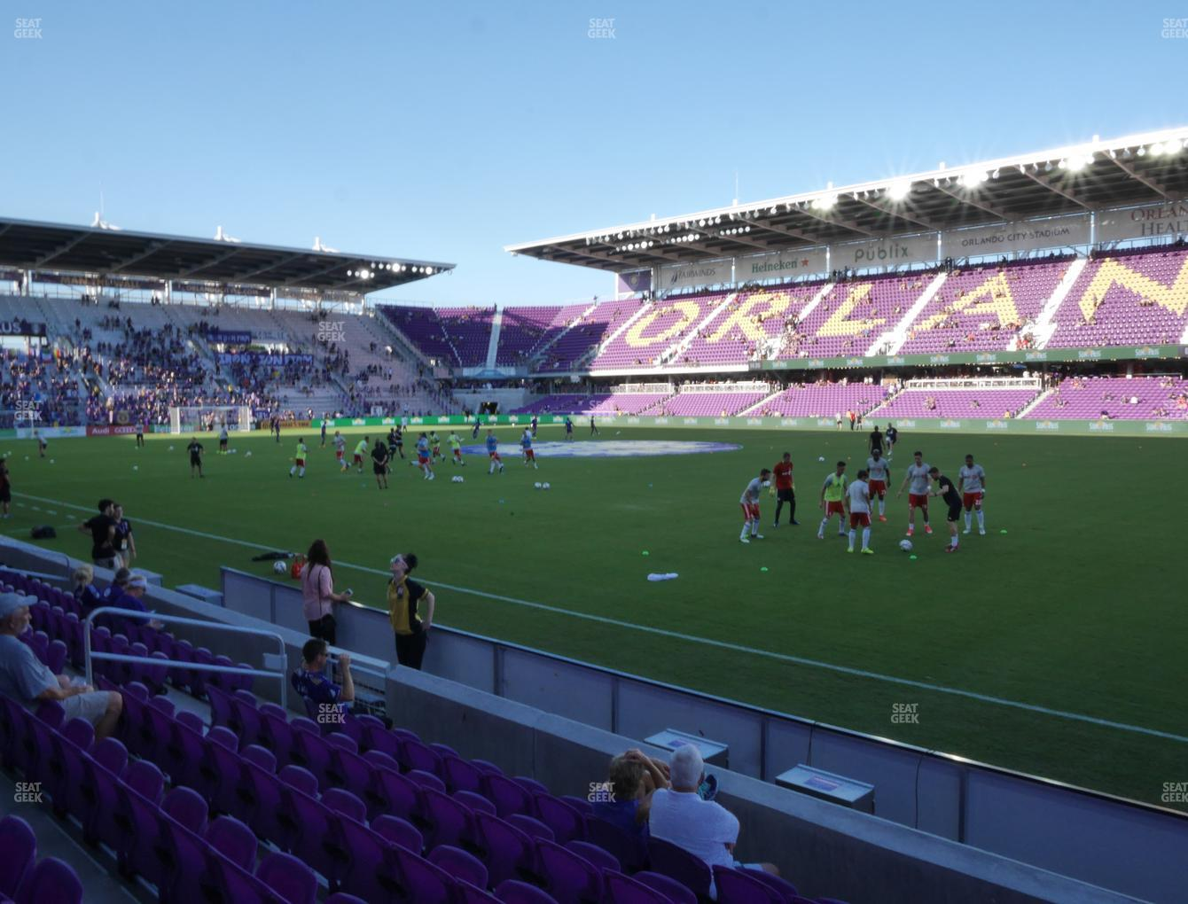 Concert at Exploria Stadium Section 11 View