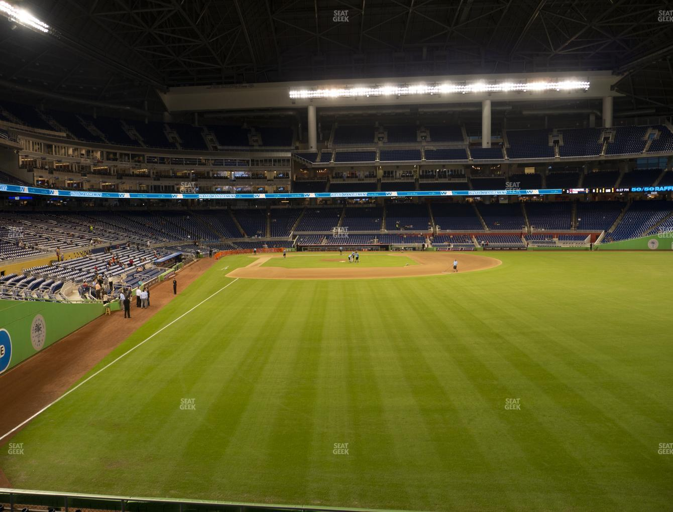 Miami Marlins at Marlins Park Section 40 View