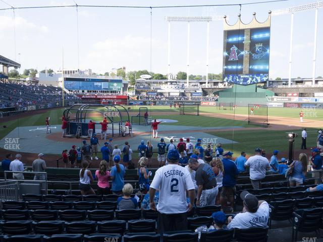 Kauffman Stadium Section 129 view