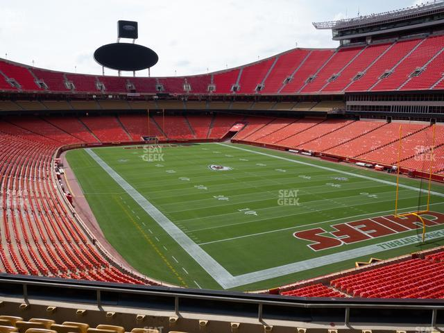 Arrowhead Stadium Section 239 view