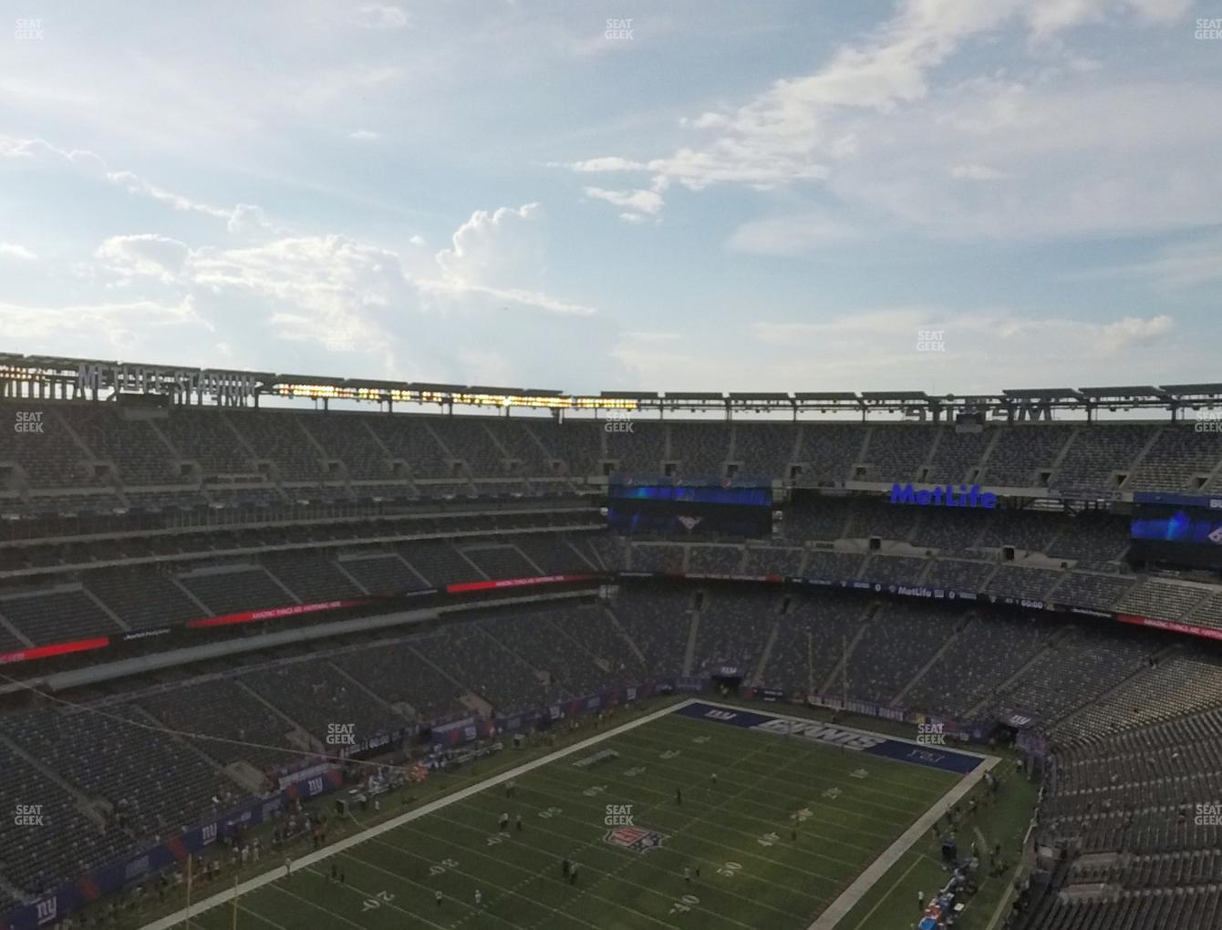 005fb905a76 New York Jets at MetLife Stadium Section 321 View ...