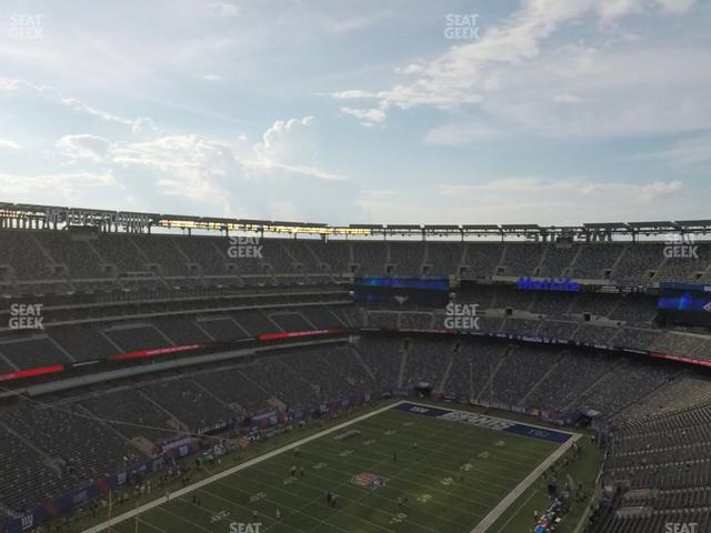 MetLife Stadium Section 321 view
