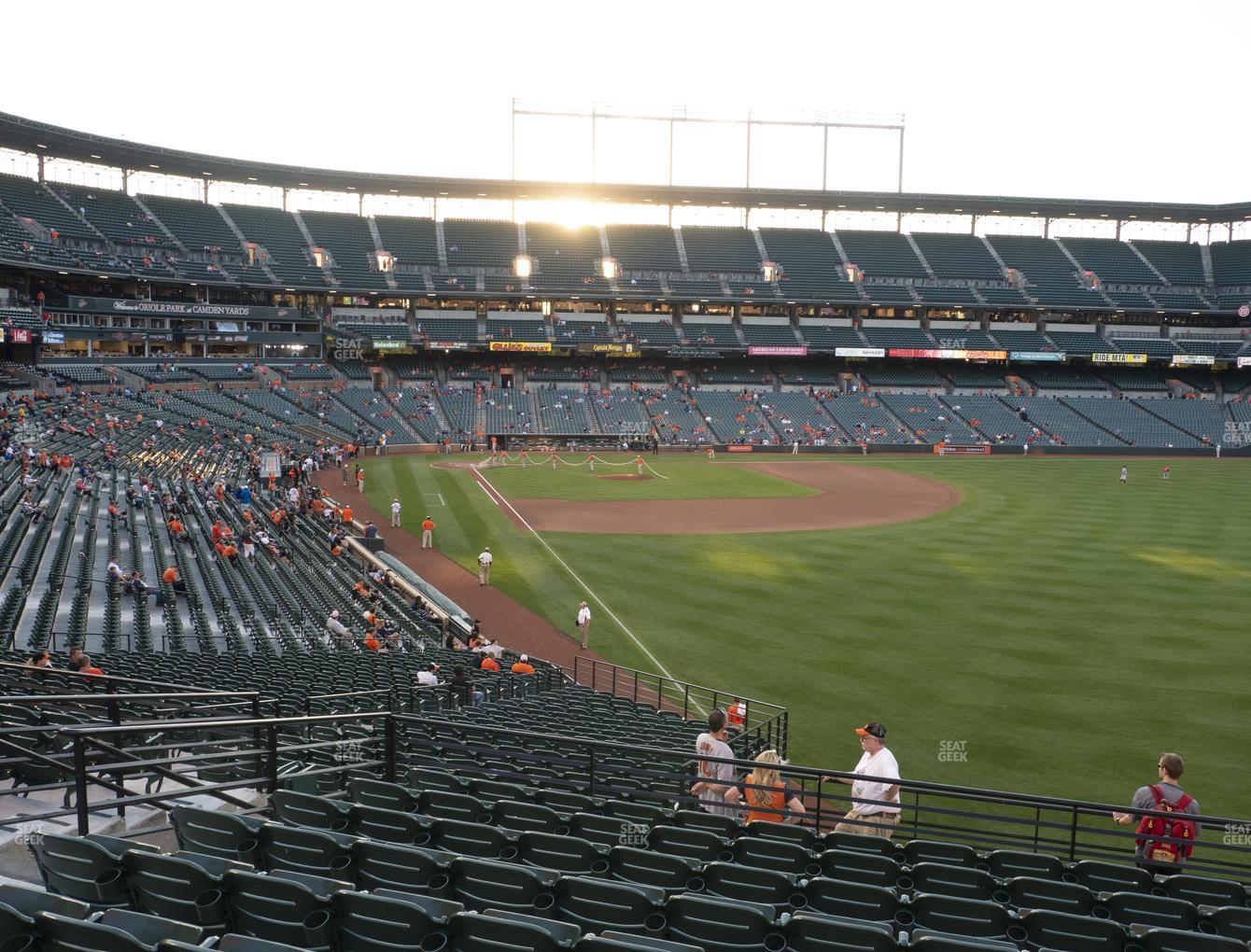 Baltimore Orioles at Oriole Park at Camden Yards Section 3 View