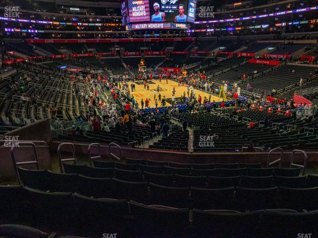 Staples Center Section 218 view