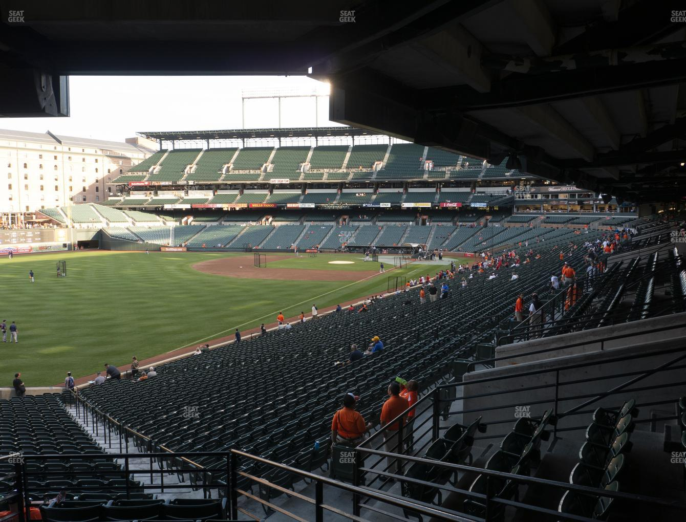 Baltimore Orioles at Oriole Park at Camden Yards Section 73 View