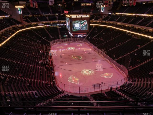 Xcel Energy Center Section 213 view