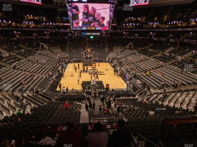 AT&T Center Section 115 view