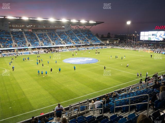 Avaya Stadium Section 125 view