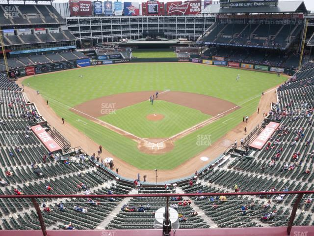 Globe Life Park Section 326 view