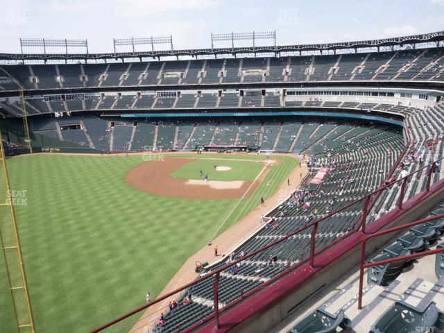 Globe Life Park Section 309 view