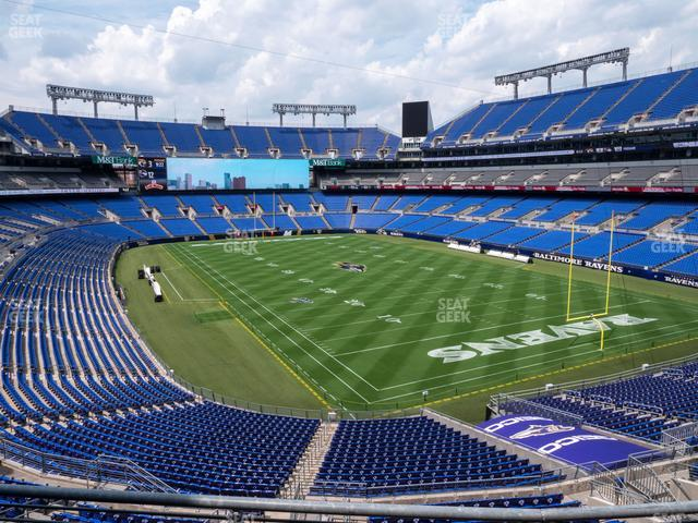 M&T Bank Stadium Section 217 view