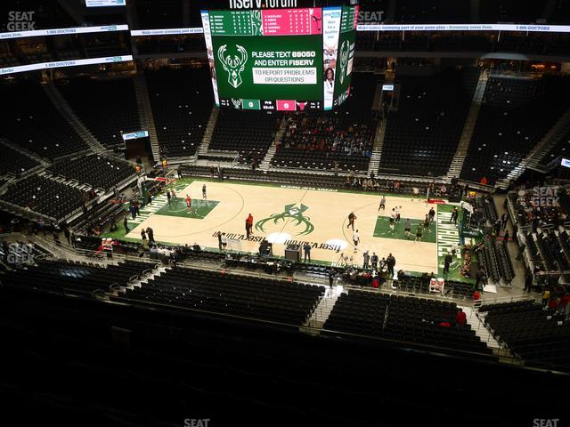 Fiserv Forum Section 221 view