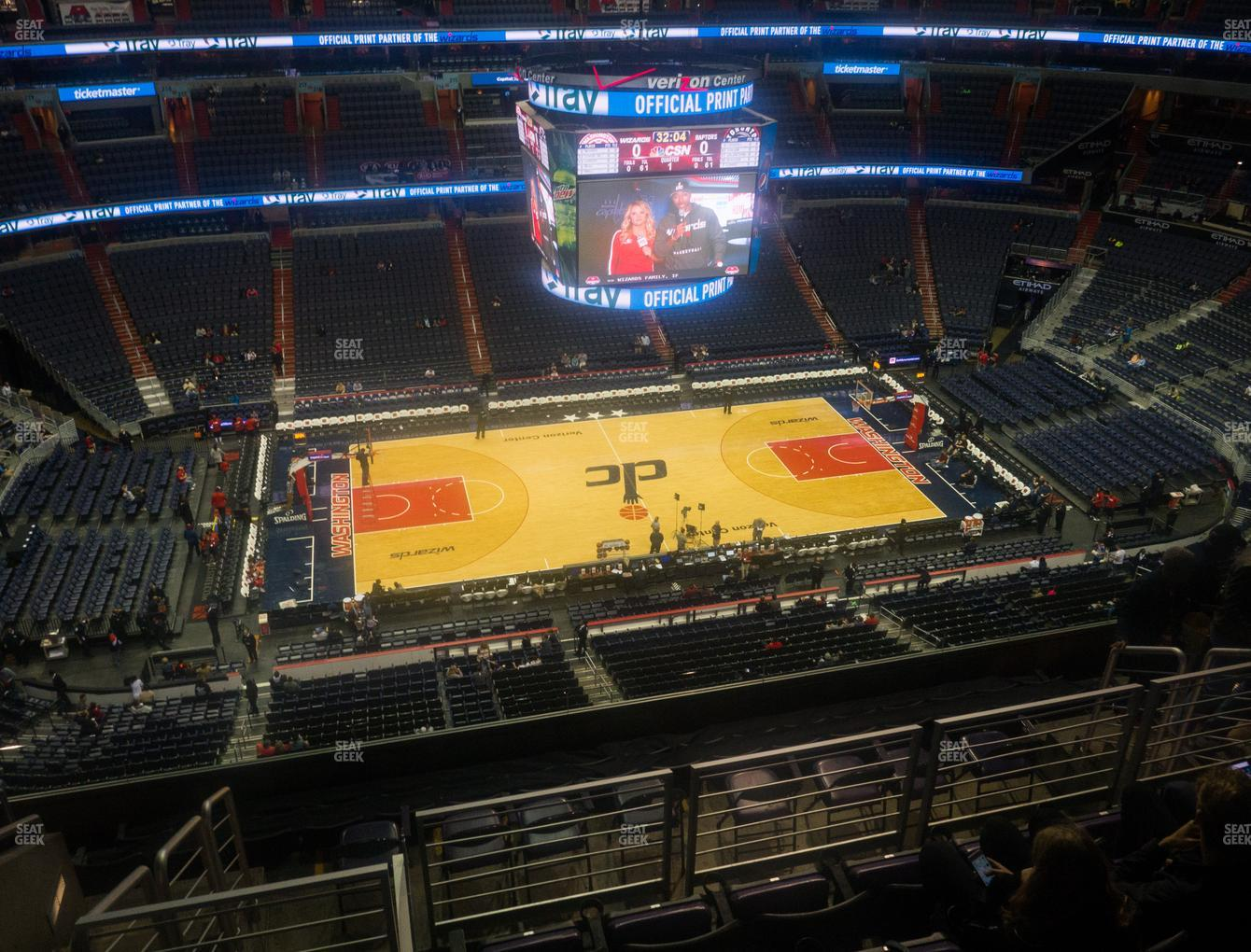 Washington Wizards at Capital One Arena Section 433 View