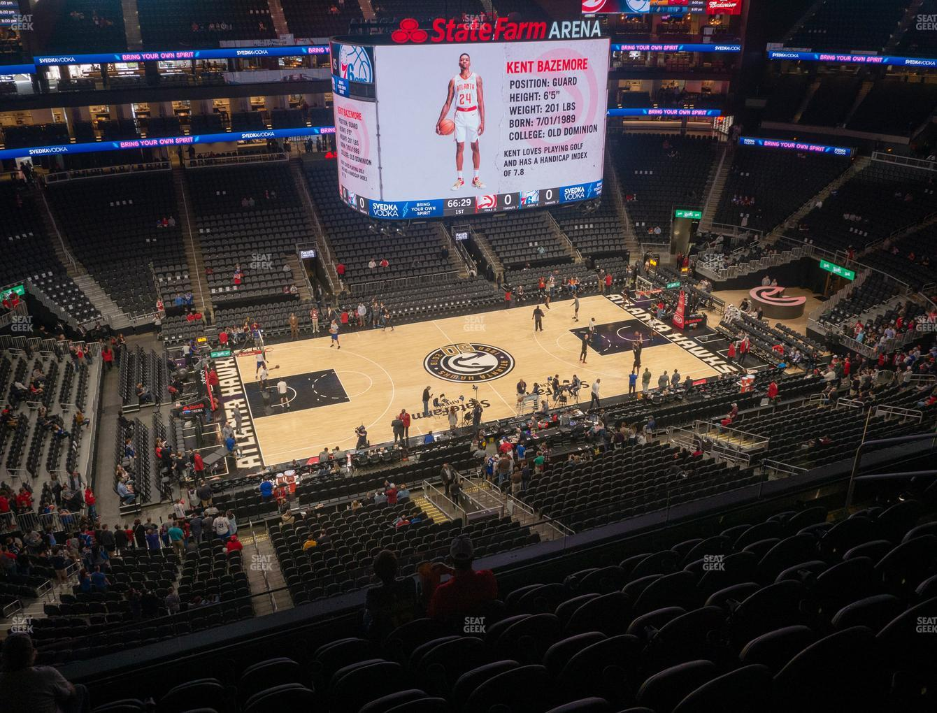 Atlanta Hawks at State Farm Arena Section 224 View