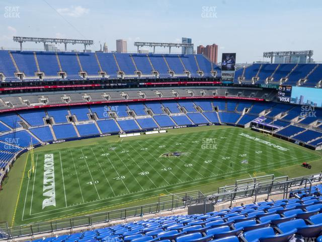 M&T Bank Stadium Section 530 view