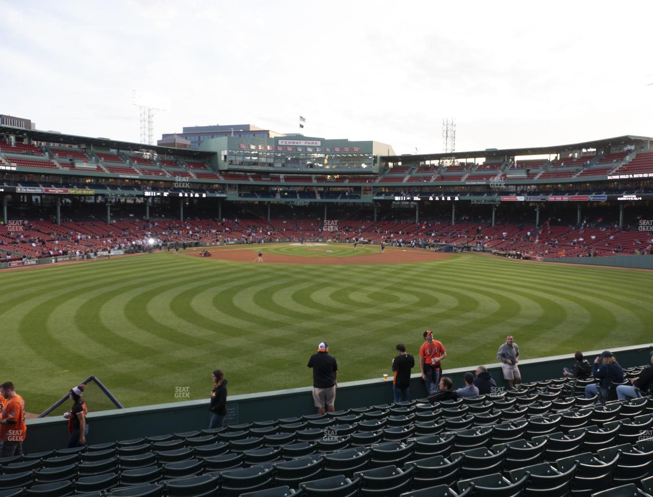 Boston Red Sox at Fenway Park Bleacher 36 View