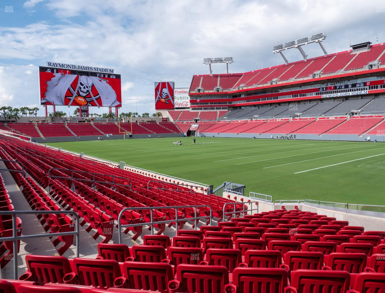 raymond james stadium section 143 seat views seatgeek raymond james stadium section 143 seat