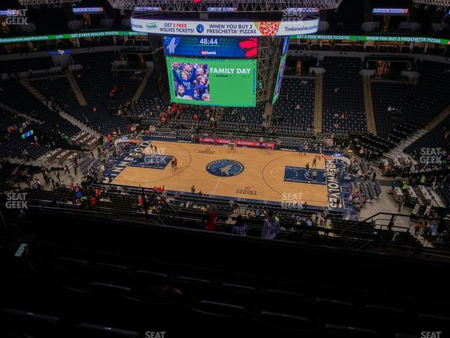Target Center Section 210 view