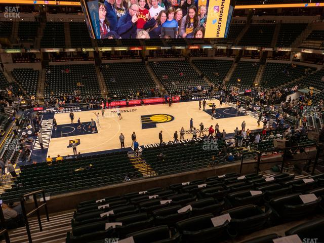 Bankers Life Fieldhouse Section 118 view