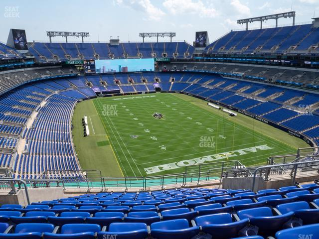 M&T Bank Stadium Section 543 view