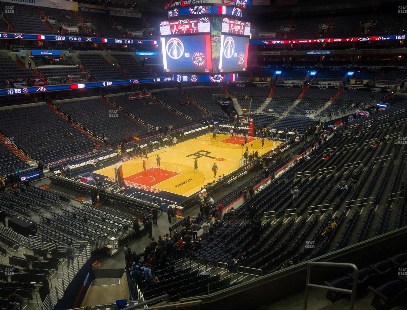 Washington Wizards at Capital One Arena Section 225 View