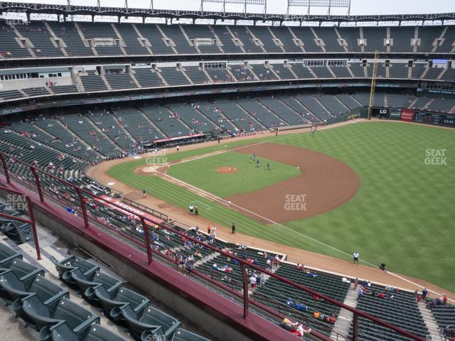Globe Life Park Section 338 view
