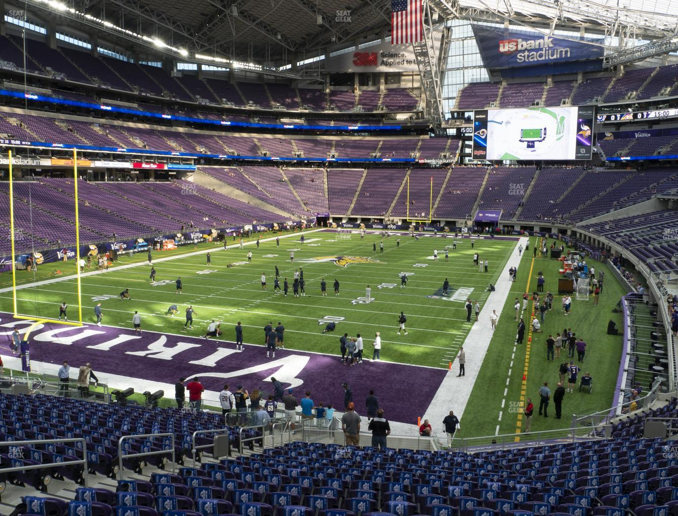 Minnesota Vikings at U.S. Bank Stadium Section 138 View