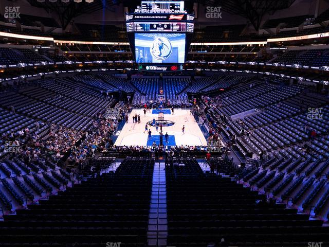 American Airlines Center Section 201 view